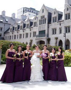 Casamentolândia: Paleta de cores : Lavanda, lilás violeta e roxo. Madrinhas de longo roxo