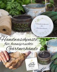 Gardener& hands need a little more care - how about cleaning, from . - Gardener& hands need a little more care - how about cleaning, from . Stress, Loving Your Body, Natural Cosmetics, Diy Beauty, Projects To Try, About Me Blog, Place Card Holders, Herbs, Cleaning