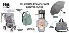 Los mejores accesorios para carritos de bebé 👶 cochecitosdebebe.net Portable Changing Table, Baby Changer, Diaper Bag Backpack, Travel Cots, Baby Buggy, Going Out