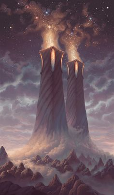 Fantasy Art Landscapes, Fantasy Landscape, Landscape Art, Fantasy Concept Art, Fantasy Artwork, Fantasy Places, Fantasy World, Fantasy Castle, Fanart
