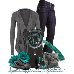 Untitled #69 Love how the turquoise is stunning against the black and gray. MUAH.