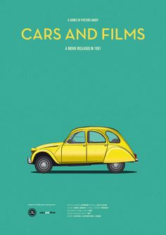 Only for your eyes Minimal Movie Poster by Jesus Prudencio Cars And Films Series James Bond, 2cv6, Bond Cars, Minimal Movie Posters, Car Illustration, Alternative Movie Posters, Car Posters, For Your Eyes Only, Vintage Posters