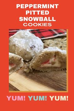 These peppermint pitted snowball cookies and refreshing but sweet. They are a perfect holiday treat! Easy to make and storeds easily too. Snowball Cookies, Holiday Treats, Peppermint, Make It Yourself, Sweet, Easy, Recipes, How To Make, Food