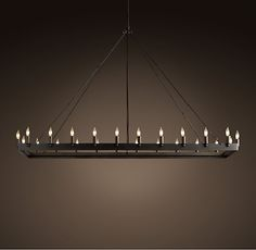 Camino Rectangle Chandelier Large | Chandeliers | Restoration Hardware