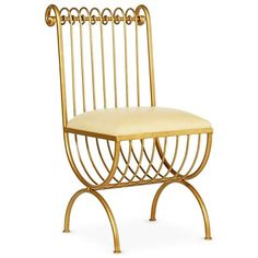 Redford House Lucia Metal Chair in Gold found on Polyvore