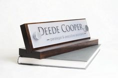 Desk Name Plate or Desk Nameplate Makes a great Mothers Day or Fathers Day Gift size 10 x 2.5 inches by GaroSigns on Etsy https://www.etsy.com/listing/124050850/desk-name-plate-or-desk-nameplate-makes