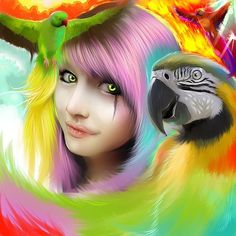 Colorful Digital Art by Benjamin Cehelsky, rainbow colors