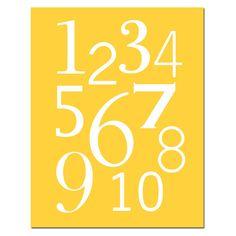 Modern Numbers print