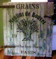 Rustic French Grains Sign - The Graphics Fairy