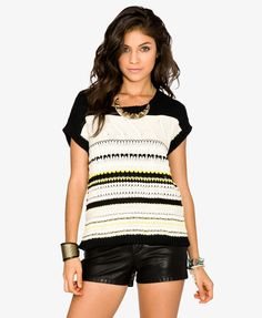 Chunky Open-Knit Sweater | FOREVER21 - 2026612376