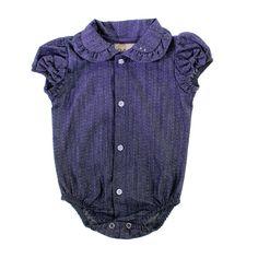Body de Bebê Camisa Bolinhas para Menina 8591 | Cegonha Encantada