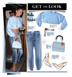 """""""Get The Look: Bella Hadid"""" by hamaly ❤ liked on Polyvore featuring GetTheLook, StreetStyle, jeans, waystowear and bellahadid"""