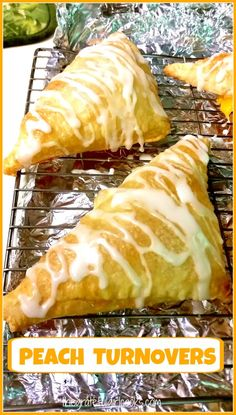 Peach Turnovers / The Grateful Girl Cooks!  These peach filled puff pastries are EASY and DELICIOUS!