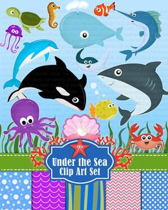 Hey, I found this really awesome Etsy listing at https://www.etsy.com/listing/152720525/under-the-sea-animals-clip-art-deep-sea