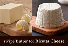 Swipe Butter for Ricotta Cheese