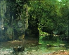 Gustave Courbet: The Shaded Stream at the Puits-Noir, ca. 1860-65