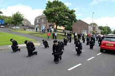 18 July, 2015 Funeral of Peggy O'Hara, mother of hunger striker Patsy O'Hara. A beautiful tribute to a beautiful woman and mother.