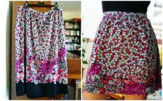Wardrobe Recycle: Floral Summer skirt refashion Girl Cave, Summer Skirts, Refashion, Sewing Ideas, Creative Ideas, Diys, Activities, Studio, Crochet