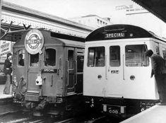 Q-Stock farewell tour, Hammersmith Broadway Station 1971 Vintage London, Old London, West London, London Underground Train, London Underground Stations, Metro Subway, U Bahn, London Transport, Old Photos