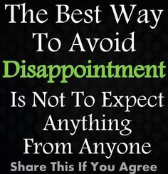 Avoid dissappointment
