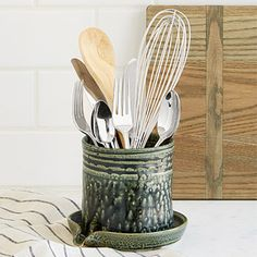 Look what I found at UncommonGoods: Utensil Draining Caddy Kitchen Items, Kitchen Tools, Kitchen Gadgets, Kitchen Products, Kitchen Spoon, Kitchen Stuff, Kitchen Decor, Utensil Caddy, Utensil Holder