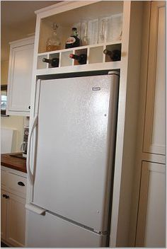 Ideas For Using That Awkward Space Above The Fridge Diy Projects