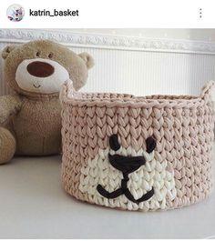 WEBSTA @ decor.fios - Cestinho de brinquedos de ursinho coisa mais fofa Inspiração @katrin_basket #ursinho #fofo #fiosdemalha #handmade #feitocomamor #feitoamao #crochê #crochet #art #artesanato #umagracinha #dicasdecorfios