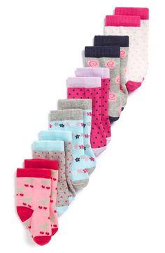 Tucker + Tate Crew Socks (6-Pack) (Baby Girls)