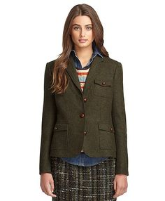 Three-Button Wool Jacket - Brooks Brothers