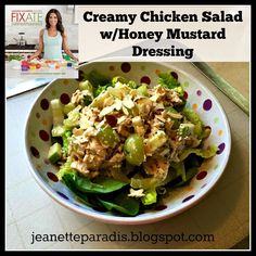 Fixate Creamy Chicken Salad with Honey Mustard Dressing!! See blog for recipe!