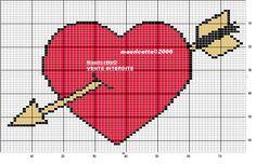Love heart perler bead pattern by Mauricette