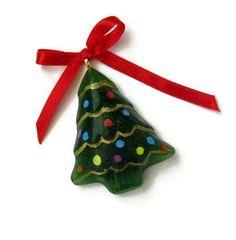 Fused glass tree ornament or pendant. $10,00, via Etsy.