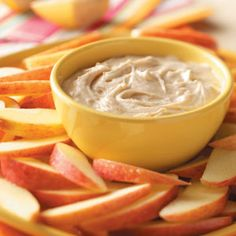 Fluffy Apple Dip.... cream cheese, peanut butter, pumpkin pie spice, marshmallow creme