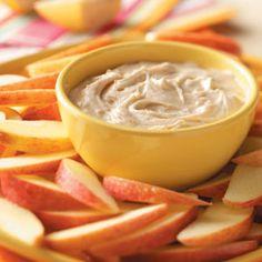 Fluffy Apple Dip (peanut butter and pumpkin)