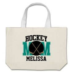Hockey Mom Personalized Tote Bags