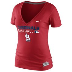 47b493357e1 St. Louis Cardinals Women s V-Neck Legend T-Shirt by Nike - MLB