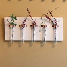 High Quality 5 Test Tube Hanging Vase with Gorgeous by CopperIvy
