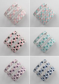 off loom beading techniques Loom Bracelet Patterns, Bead Loom Bracelets, Bead Loom Patterns, Weaving Patterns, Jewelry Patterns, Mosaic Patterns, Art Patterns, Knitting Patterns, Color Patterns