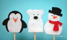 Snow Friends Finger Puppets