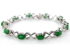 Sterling Silver Jewelry Collection : 6.25ctw Genuine Emerald Rounds and .925 Sterling Silver Bracelet ** Be sure to check out this awesome product. (This is an affiliate link and I receive a commission for the sales)