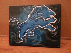 Detroit Lions Painting by sportsONcanvas on Etsy