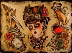 Tattoo flash by Esther de Miguel..incredible
