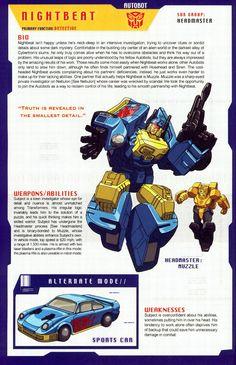 Transformers Universe - Gallery: G1 Nightbeat & Muzzle