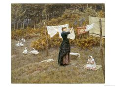 Old-Fashioned Motherhood: Old-Fashioned Homemaking: The Clothesline