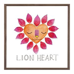 Lion Heart | Curated with the designer, traveler & collector in mind our artwork lends a lived-in elegance to the home. Bold graphics, saturated colors & metallic accents blend beautifully as a gallery wall or choose just one for a striking statement.