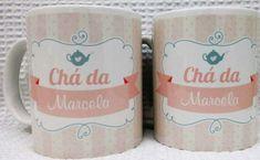 Caneca Personalizada Chá de bebê Mugs, Tableware, Shower Prizes, Finger Print, Enchanted Garden, Personalized Mugs, Birth, Dinnerware, Cups