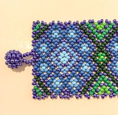 Items similar to Mexican Huichol beaded bracelet on Etsy Beaded Choker, Beaded Jewelry, Beaded Bracelets, Bead Weaving, Beading Patterns, Floral, Diy And Crafts, Crochet Necklace, Chokers
