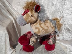 Noble Majestic Royal Soft CUDDLY HORSE  by TALLhappyCOLORS on Etsy