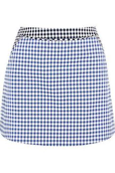 Gingham stretch-cotton twill mini skirt #skirt #women #covetme #richardnicoll