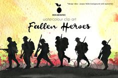 Small Soldiers, Fallen Soldiers, Fallen Heroes, Remembrance Day Art, Soldier Silhouette, Anzac Day, War Image, Silhouette Images, Dc Comics Art